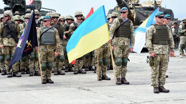 Военнослужащие армии Украины на открытии международных военных учений под эгидой НАТО в Грузии
