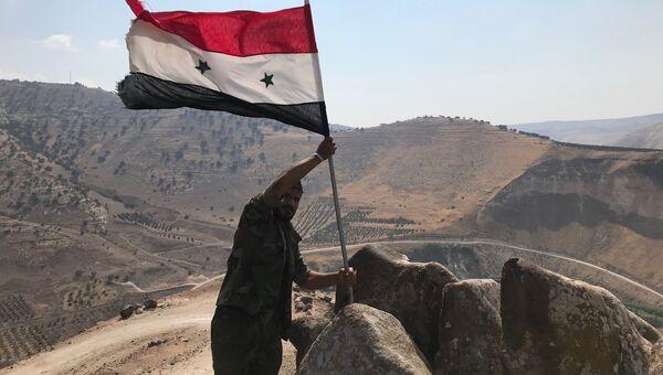 Сирийские военные водрузили государственный флаг. Архивное фото