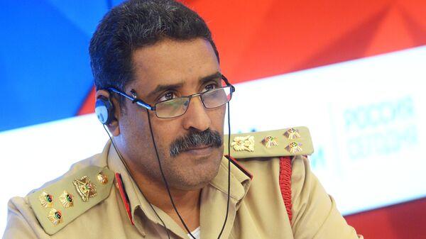Официальный представитель Ливийской национальной армии (ЛНА), глава департамента моральной ориентации, бригадный генерал Ахмад Аль-Мисмари. Архивное фото