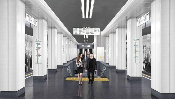Проект станции метро Улица Народного Ополчения