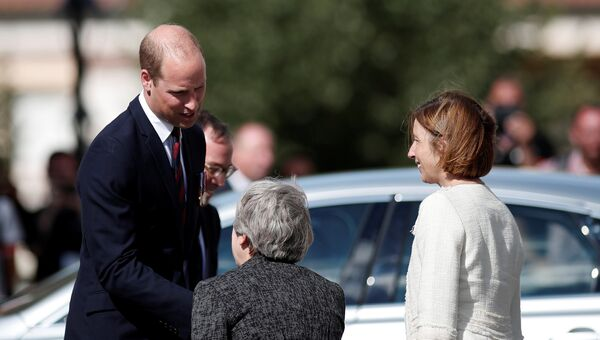 Принц Уильям и Тереза Мэй. 8 августа 2018 года