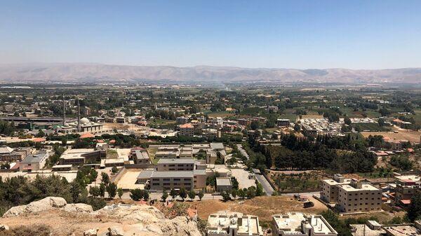 Долина Бекаа в Ливане, где размещены лагеря для сирийских беженцев