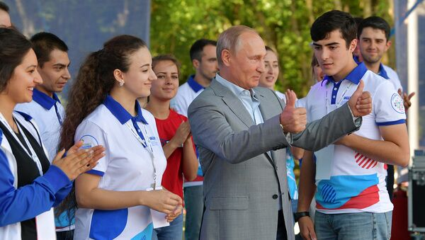 Владимир Путин встретился с волонтерами Северного Кавказа