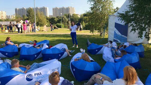 Пишем с пользой: урок медиадобра прошел в Братеевском парке Москвы