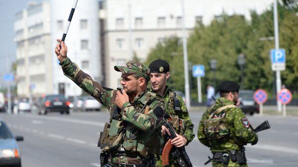Сотрудники министерства внутренних дел Чеченской Республики