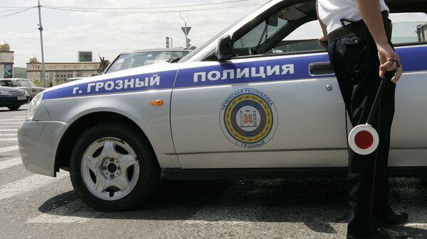 Сотрудник полиции в Грозном. Архивное фото