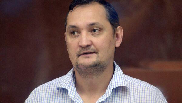 Экс-заместитель директора ПАО РКК Энергия Алексей Белобородов в Бабушкинском суде. 20 августа 2018
