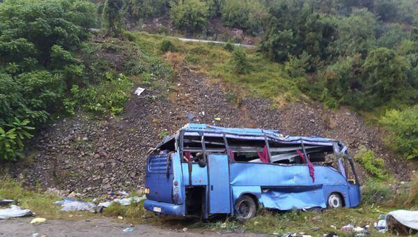 На месте ДТП с туристическим автобусом в Болгарии. 25 августа 2018