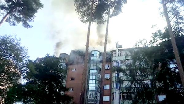Пожар в многоэтажном жилом здании в Королеве. 26 августа 2018