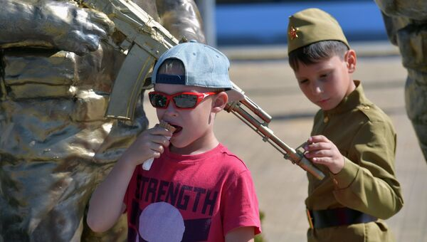 Дети на выставке в рамках IV Международного военно-технического форума Армия-2018