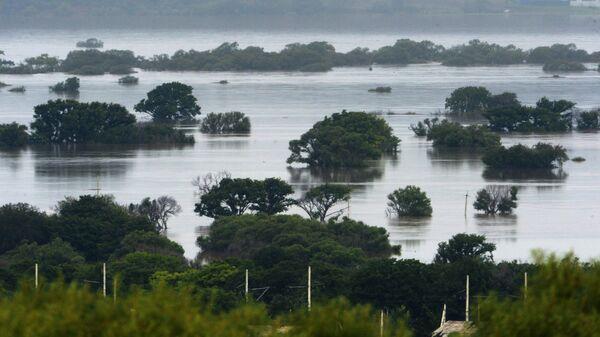 Затопления в результате паводка в Уссурийске. Архивное фото