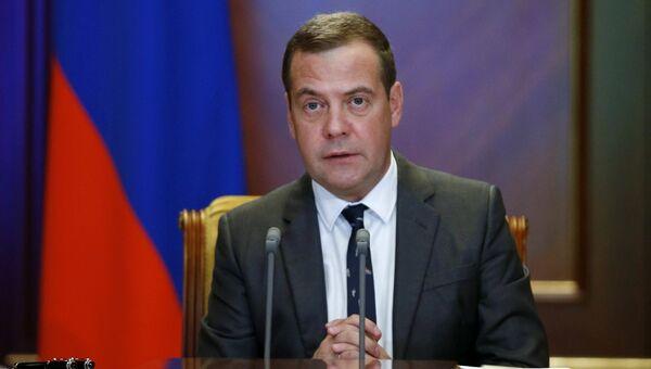 Председатель правительства РФ Дмитрий Медведев проводит селекторное совещание о готовности к учебному году. 29 августа 2018