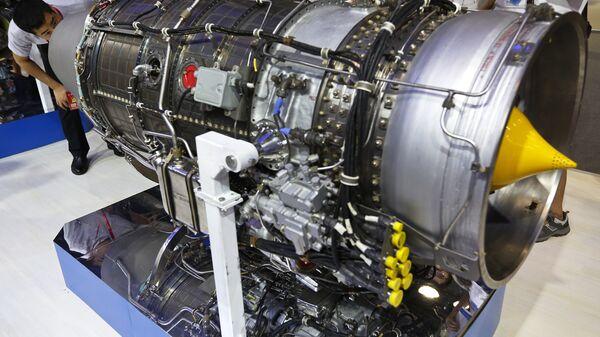 Двигатель, разработанный украинским промышленным предприятием Мотор Сич на выставке Aviation Expo China в Пекине