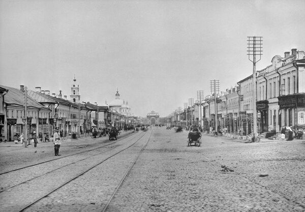 Москва. Улица Тверская-Ямская. 1887 год