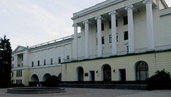 Областная травматологическая больница в Донецке, в которой скончался глава ДНР Александр Захарченко после взрыва в кафе Сепар