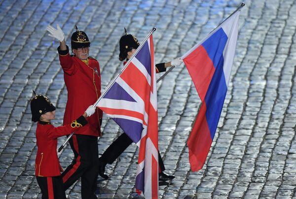 Имперский юношеский оркестр (Брентвуд, Великобритания) выступает на закрытии XI Международного военно-музыкального фестиваля Спасская башня