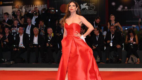 Актриса Элеонора Белькамино на премьере фильма Братья Систерс (The Sisters Brothers) в рамках 75-го Венецианского международного кинофестиваля
