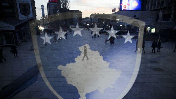 Флаг Косово. Архивное фото