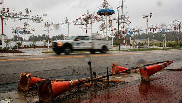 Ураган Флоренс в городе Уилсон в штате Северная Каролина. 14 сентября 2018
