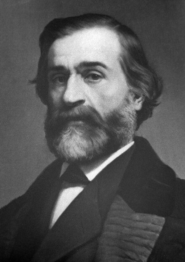 Портрет итальянского композитора Джузеппе Верди.