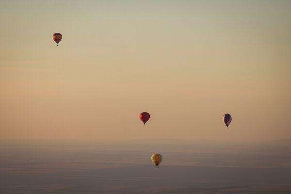 Воздушные шары на фестивале воздухоплавания Кавказские Минеральные Воды - Жемчужина России в Ставрополье