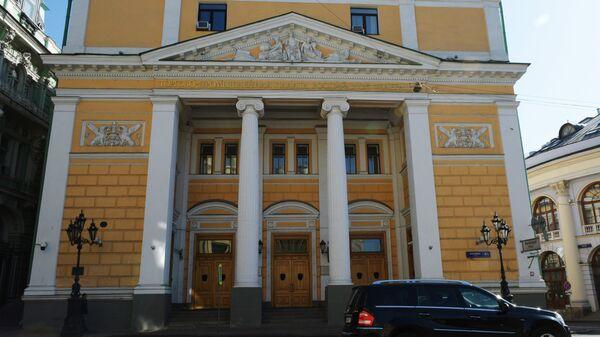 Здание Торгово-промышленной палаты РФ (здание бывшей Биржи, по проекту архитектора А.С. Каминского) на улице Ильинка в Москве