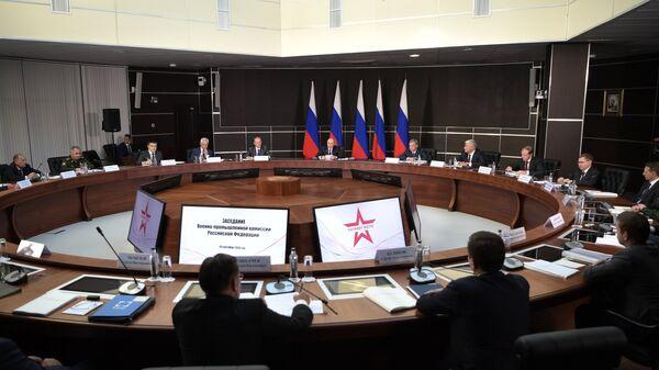 Президент РФ Владимир Путин проводит заседание Военно-промышленной комиссии. 19 сентября 2018