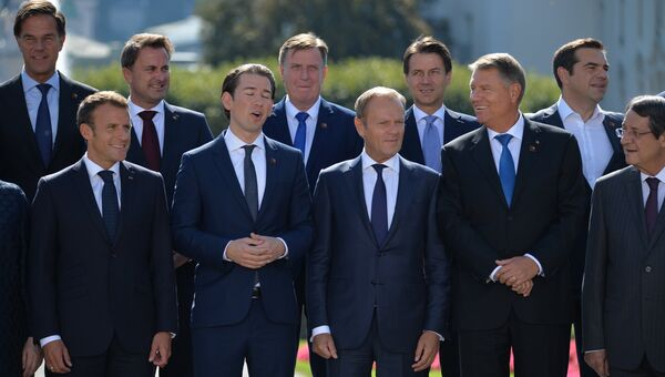Неформальная встреча глав стран ЕС в Зальцбурге. 20 сентября 2018