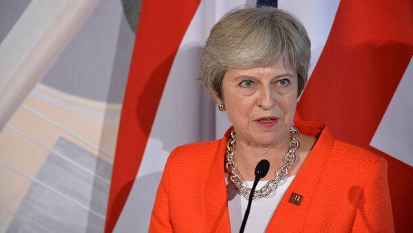 Премьер-министр Великобритании Тереза Мэй на неформальной встрече глав стран-членов ЕС в Зальцбурге