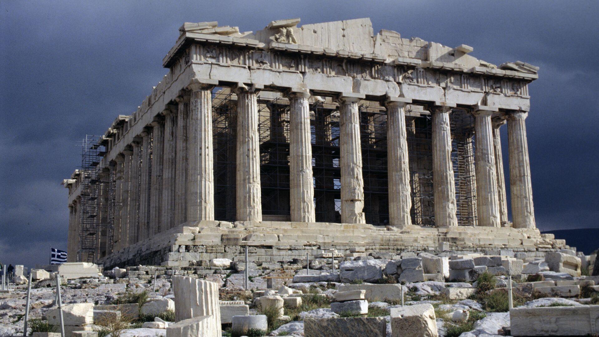 Парфенон - памятник античной архитектуры, расположенный на афинском Акрополе - РИА Новости, 1920, 17.09.2020