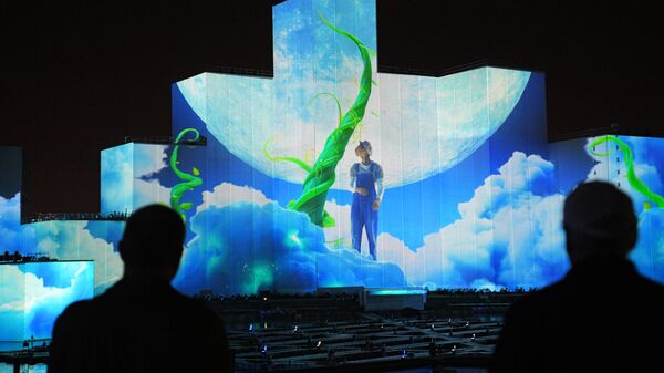 Генеральная репетиция церемонии открытия международного фестиваля «Круг света» на Гребном канале в Москве