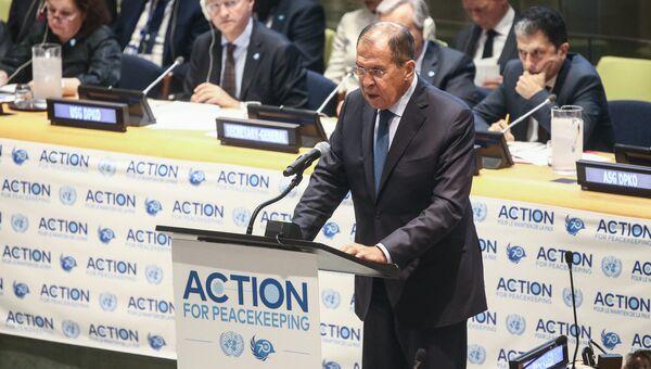 Сергей Лавров на Генеральной Ассамблее ООН. 25 сентября 2018