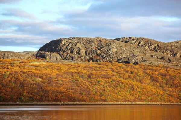 Скалы на полуострове Немецкий в Печенгском районе Мурманской области