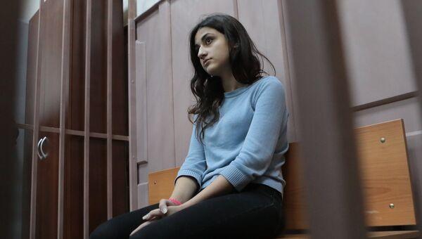 Крестина Хачатурян в зале Басманного суда Москвы. Архивное фото.