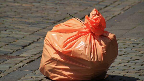 Мешок с мусором. Архивное фото.