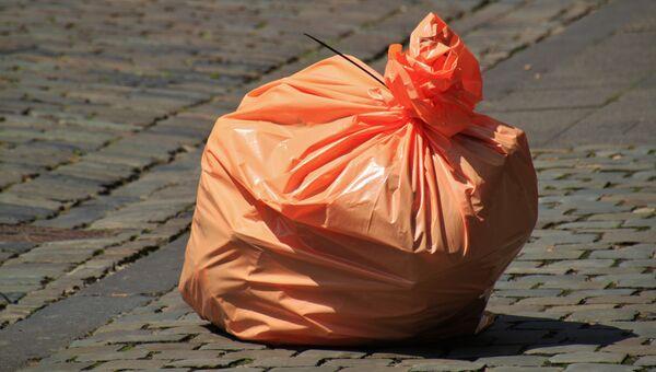 Мешок с мусором. Архивное фото