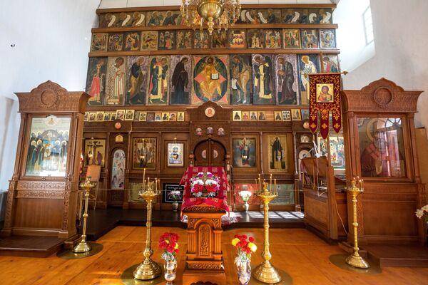 Иконостас Кирилловского храма на территории Кирилло-Белозерского монастыря в селе Горицы Вологодской области