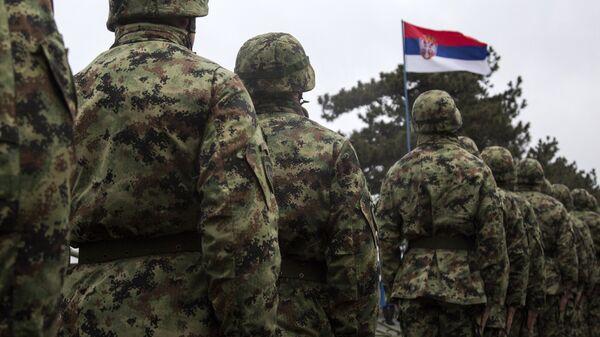 Солдаты армии Сербии