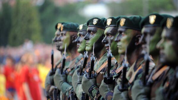 Вооруженные силы Республики Македонии во время парада в Скопье
