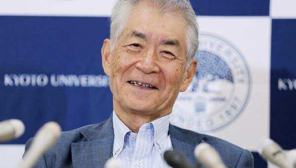 Японский ученый Тасуко Хондзе на пресс-конференции после присуждения Нобелевской премии по медицине за 2018 год
