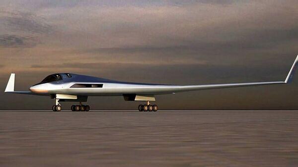 Эскиз перспективного авиационного комплекса дальней авиации (ПАК ДА, или Изделие 80)