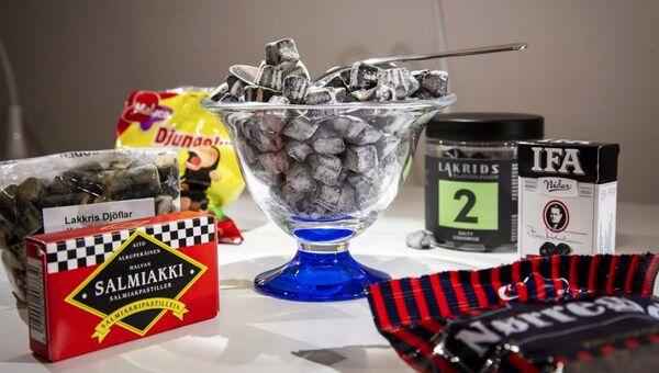 Лакричные конфеты в Музее отвратительной еды в Мальмё, Швеция