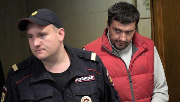 Доверенное лицо полковника МВД Дмитрия Захарченко адвокат Виктор Белевцов в Басманном суде Москвы
