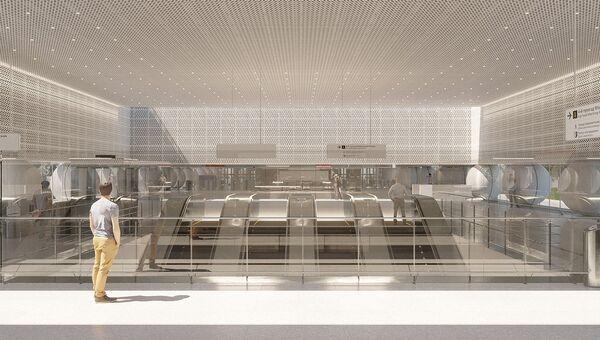 Дизайн-проект станции Шереметьевская Большой кольцевой линии метро Москвы