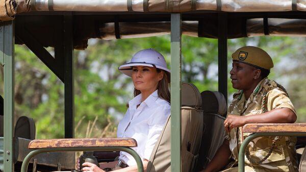 Супруга президента США Меланья Трамп с визитом в Кении. 5 октября 2018