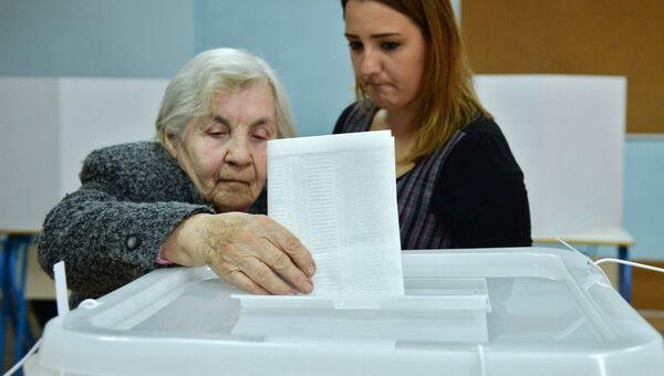 Голосование на выборах в Боснии и Герцеговине в Сараево. 7 октября 2018