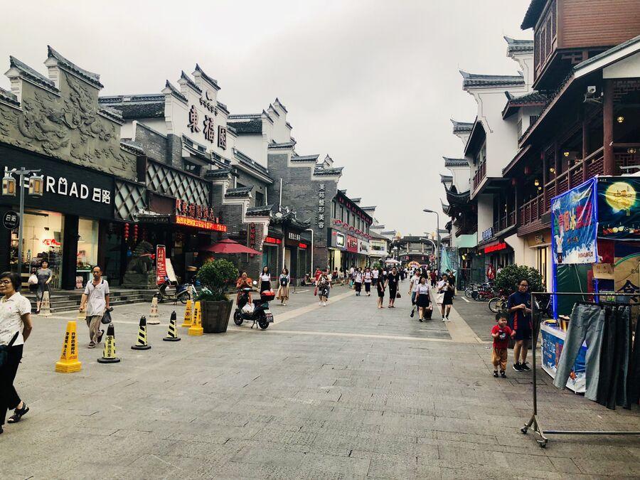 Пешеходная улица, Нинбо, Китай