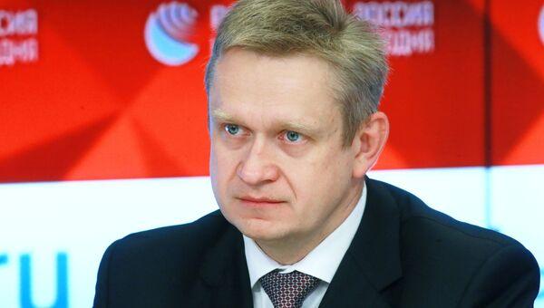 Владимир Рашевский во время пресс-конференции в Международном мультимедийном пресс-центре МИА Россия сегодня. 11 октября 2018