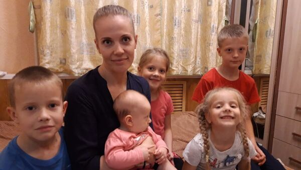 Ольга Розенко с детьми