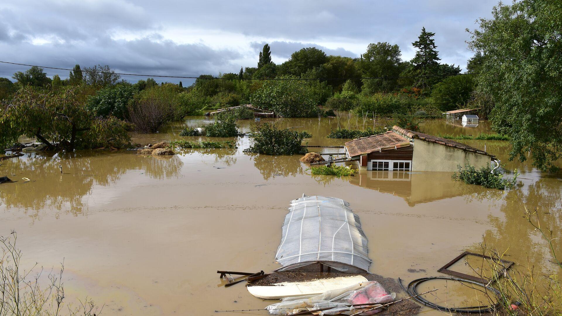 Последствия наводнения на юге Франции - РИА Новости, 1920, 17.07.2021